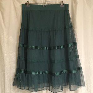 Beautiful dark teal skirt